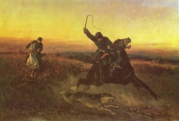 The Wolf Hunt by Nikolai Sverchkov, 1862.jpg